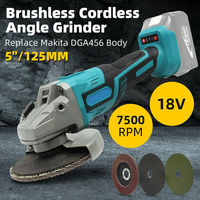 For Makita 18V 100mm/125mm Brushless Cordless Impact Angle Grinder Power Tools Polishing Machine Angular Grinder Without Battery