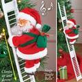 Рождество Санта Клаус музыкальные игрушки Музыка электрический восхождение подвесная лестница игрушка подарок для детей вечерние орнамен...