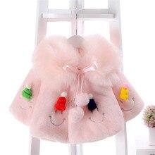 BibiCola/ г. Верхняя одежда для маленьких девочек, зимние модные пальто для младенцев флисовые плащи с капюшоном для малышей, куртки хлопковая одежда для малышей