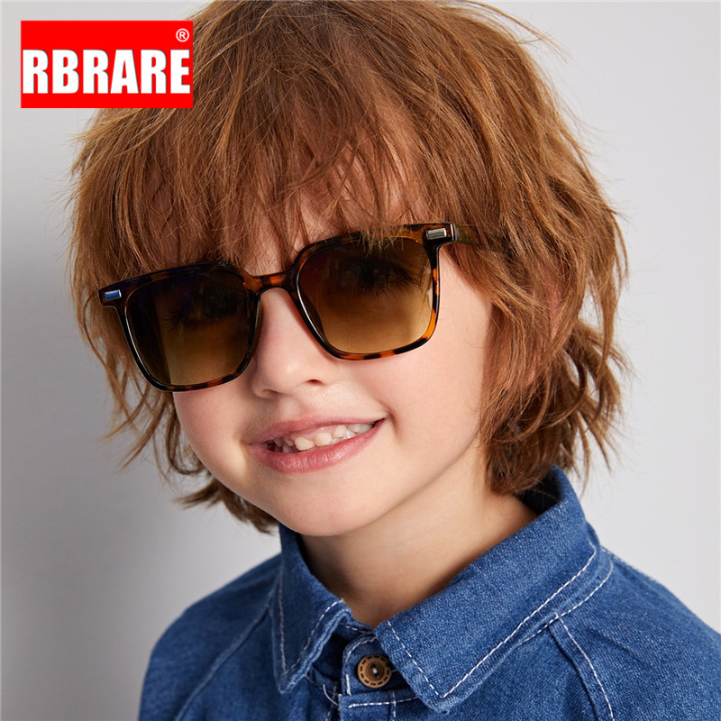 RBRARE Lovely Square Sunglasses Child Cute Wild Gradient Sunglasses Personality Baby Anti-UV Street Beat Glasses For Kid