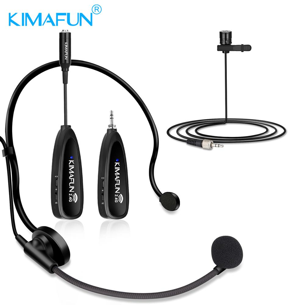 KIMAFUN Mini Portable Headset 2.4G Earphone Bluetooth Wireless Microphone Power Amplifier For Tourist Guide Meeting Teaching