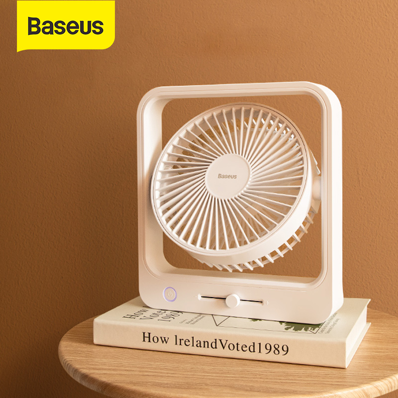 Baseus USB Fan Shaking Mini USB Fan Portable 3 Speed Super Mute Cooler for Office Chargable