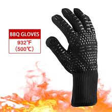 BBQ Glove High Temperature Insulation Glove Oven Baking Cooking Glove for Grill #4O alex clark rooster double oven glove
