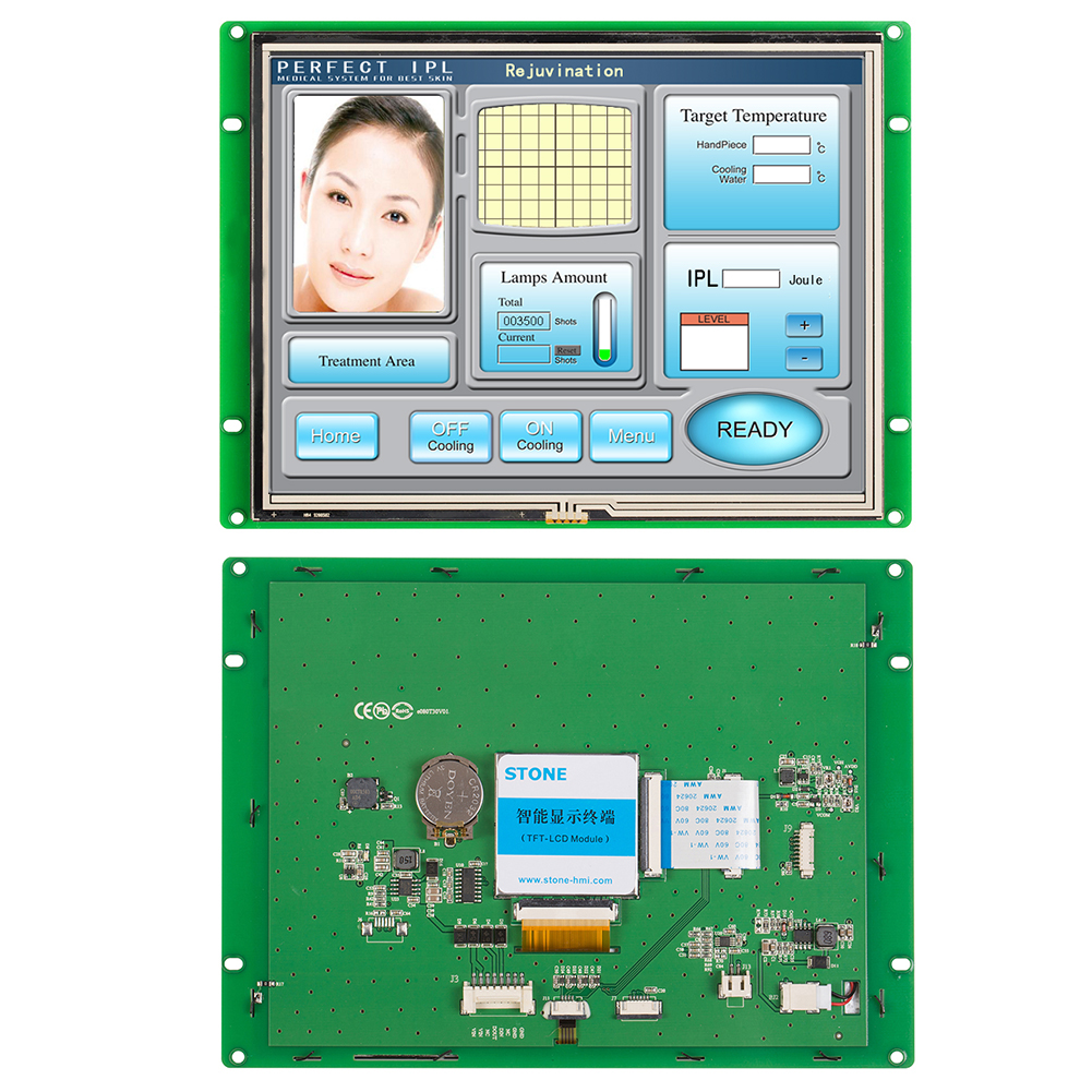8 inch LCD Display Touch Serial Module with Controller + Program for Industrial Control