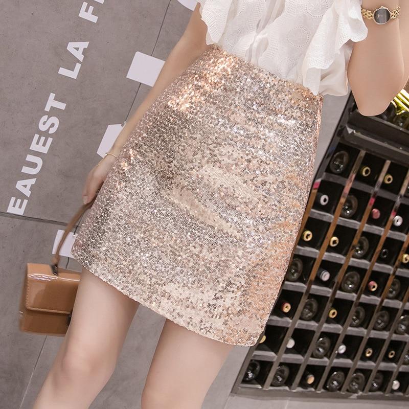 Photo Shoot 2019 Autumn New Style Short Skirt INS Super Fire A- Line Skirt Children High-waisted Skirt Sequin Skirt