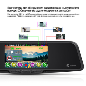 Image 4 - Junsun L11 רכב DVR מראה מצלמה רשם 3 ב 1 וידאו מקליט GPS מלא HD 2304 × 1296P/1080P גלאי רדאר אחורית מראה