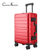 Hot ladies new travel colorful wheel luggage light portable with rotating wheel with lock buckle ladies suitcase bolsa feminina