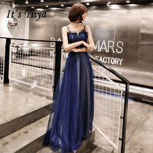 Женское вечернее платье it's yiiya темно синее блестящее