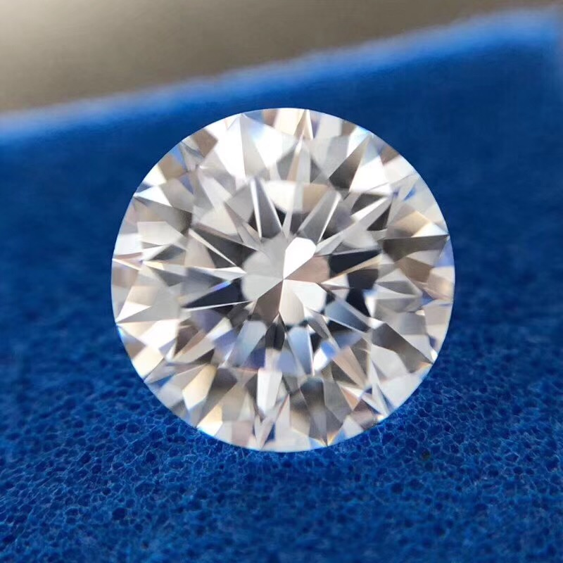 10mm D Color Loose Moissanite 4ct Round Brilliant Cut Moissanite VVS1 Grade Ring Jewelry Making Stone Earrings Material