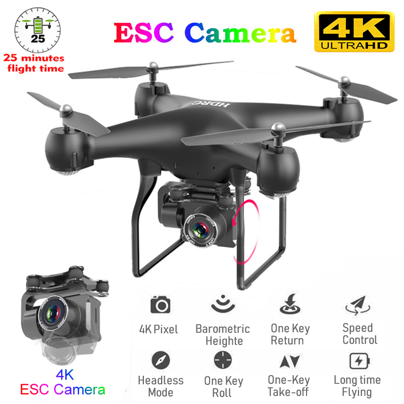 RC Drone FPV Quadcopter UAV with ESC Camera 4K HD Professional Wide-Angle Aerial Photography Long Life Remote Control Helicopter
