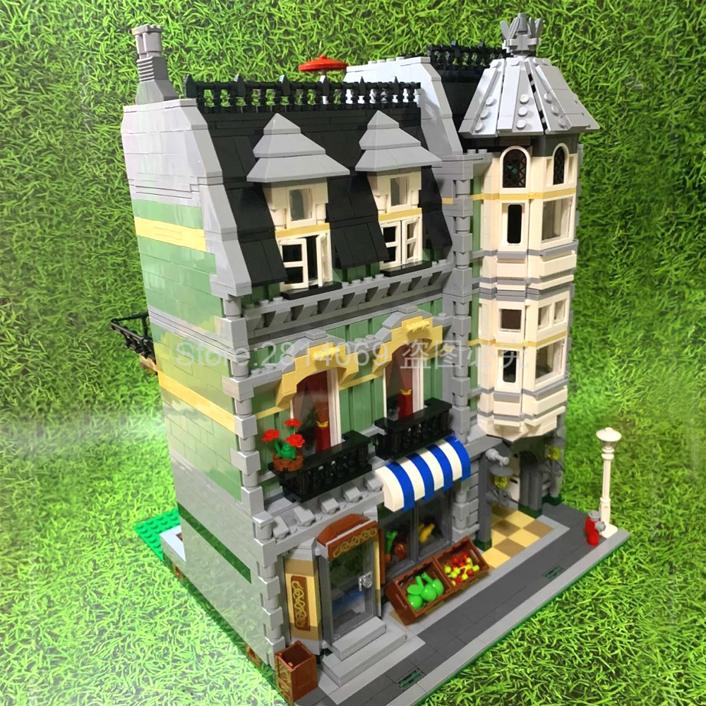15008 Creator City Street Grocery Store Apartment 2462pcs Building Blocks Bricks Toys Gift For Children Compatible 10185
