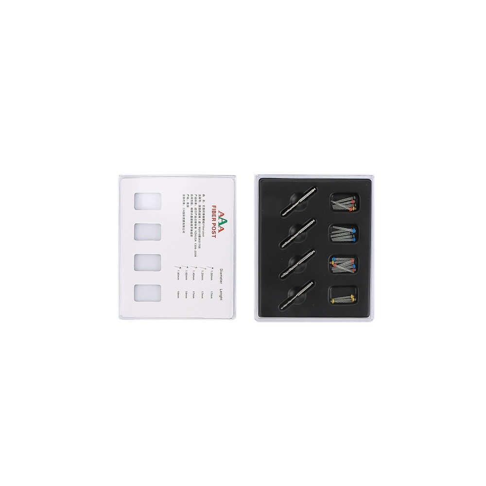 20 unids/set 1 caja tornillo Dental 4 taladros fibra Post dentista producto herramientas de cuidado Dental