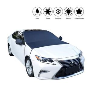 Image 1 - Car windshield snow cover Rear View Mirror Cover universal car cover SUV/small car/truck winter windshield cover sun shade