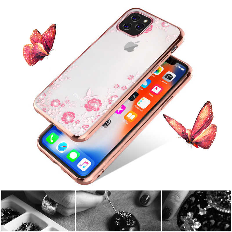 YISAHNGOU For iPhone 11 Pro Max 2019 XS MAX XR Luxury Diamond Flower Slim Clear Case Cover For iPhone  8 7 X 6s Plus 6 5 Coque