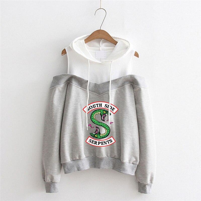 Damen Riverdale Southside Serpents Off-Shoulder Sweatshirts  Sweatshirt Hoodie