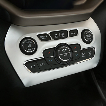 For Jeep Cherokee kl 2014 2015 2016 2017 2018 Chrome Interior Accessories Styling Air Conditioning Adjustment Switch Cover Trim