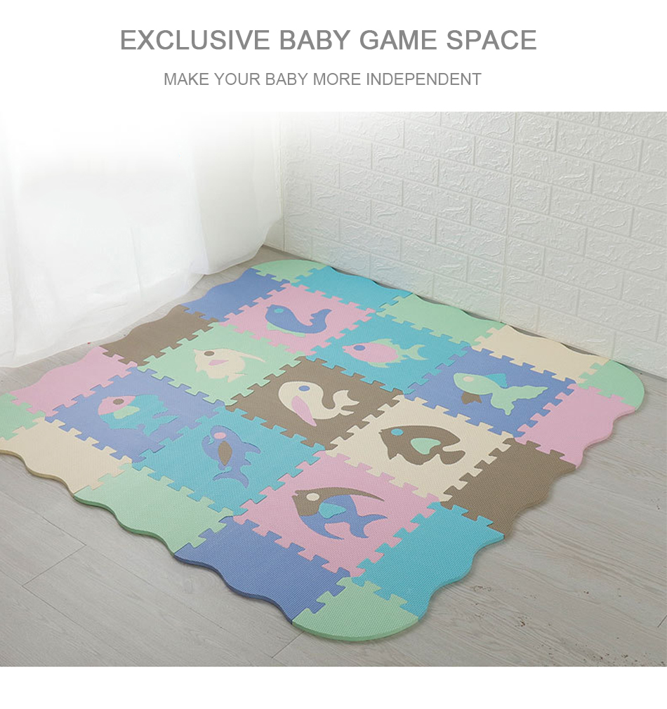 H0be51302ab3046dfa7ebc4ab239aceb66 25Pcs Kids Toys EVA Children's mat Foam Carpets Soft Floor Mat Puzzle Baby Play Mat Floor Developing Crawling Rugs With Fence
