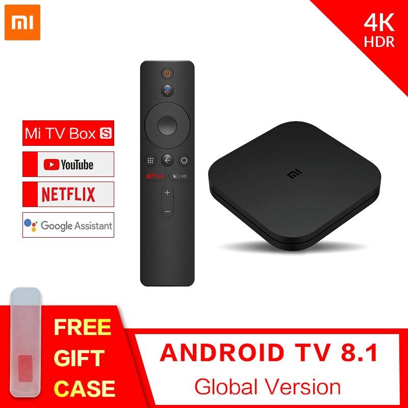 Xiaomi Mi Box S 4K Android 8.1 TV Box Mali-450 1000Mbp Android 8.1 2GB+8GB HDMI2.0 2.4G/5.8G WiFi BT4.2 Set Top TV Box