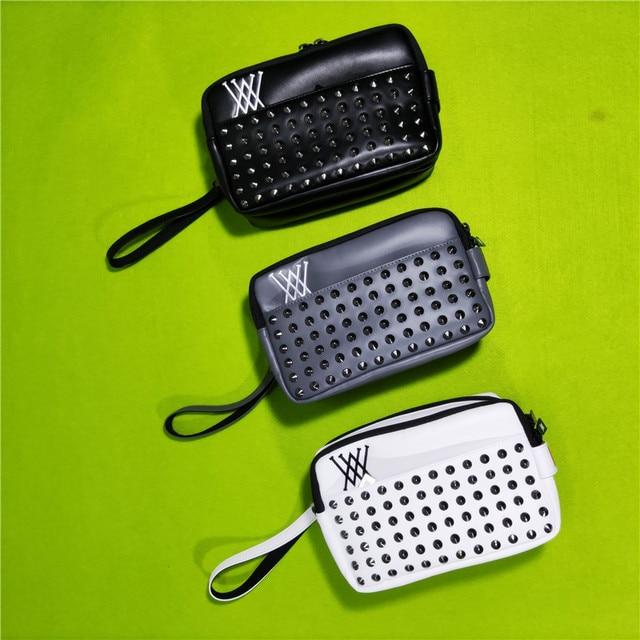 Golf Handbag  Mass Rivets Cool Fashion Design Portable Accessory Storage-Bag for Keys Cellphone Pouch 1