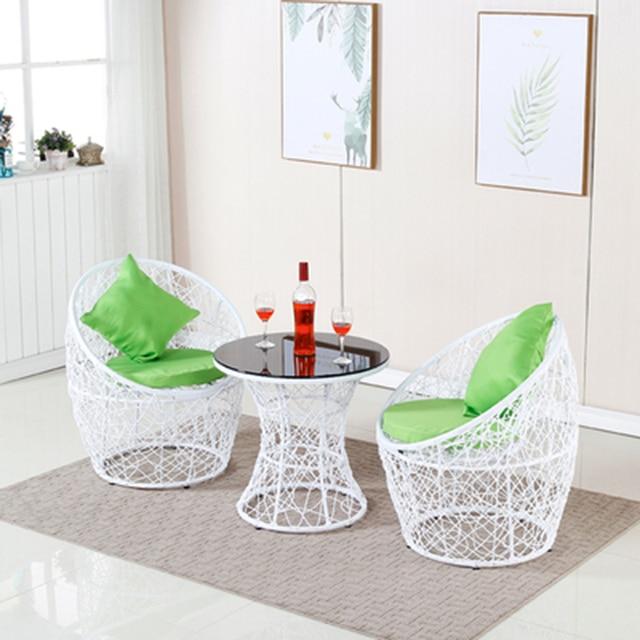 Rattan Patio Conversation Furniture Set  4