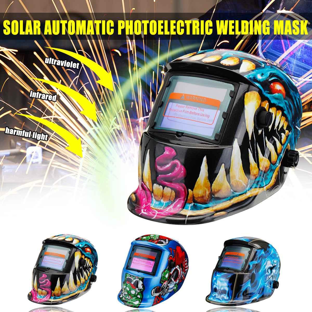 2020 New Solar Automatic Photoelectric Welding Mask Helmet Welding Caps Solar Power Welding Helmets Adjustable Headband
