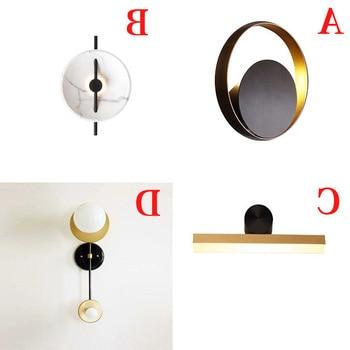 Lámpara de pared de bola de cristal moderna lámpara de pared del dormitorio Led accesorio de luz para la decoración del hogar