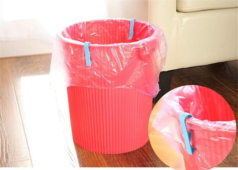 2pc Garbage Bag Fixed Clips Anti-Slip Trash Bin Waste Basket Bag Clamps Holder