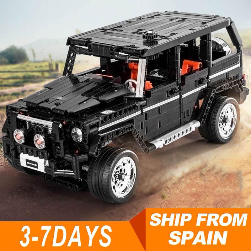 <font><b>701960</b></font> Technic 2425 G500 SUV AWD Wagon Cars Expert MOC 1343Pcs Model Building Blocks Compatible with 20086 20077 10265 image