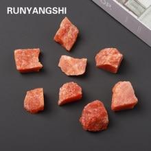 1PC Natural Sun stone Crystal orange Quartz Ore Mineral Energy Healing Stone Fluorite Ornaments Home Decor Specimen DIY gift