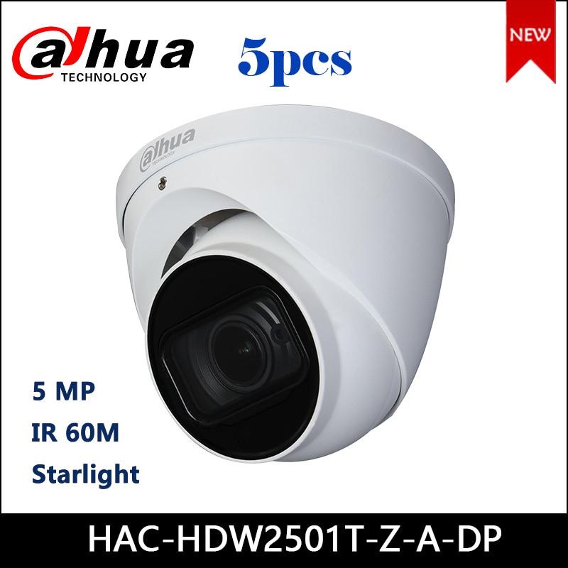 Dahua HAC-HDW2501T-Z-A-DP 5MP Starlight HDCVI IR Eyeball Camera 2.7-13.5mm motorized lens Audio in built-in mic CCTV Camera