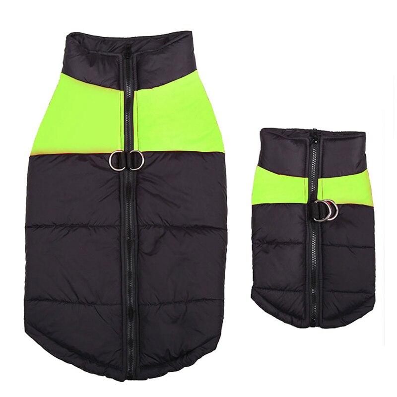 Жилет для больших собак водонепроницаемый, теплая зимняя куртка, одежда для маленьких и больших собак, пальто для щенков, Мопсов, одежда для домашних животных 4XL, 5XL-1