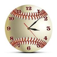 Boné de beisebol Personalizado Nome 3D Relógio de Parede Quarto Decoração Da Parede de Esportes de Beisebol Personalizado Your Name Design Acrílico Impresso Relógio De Parede