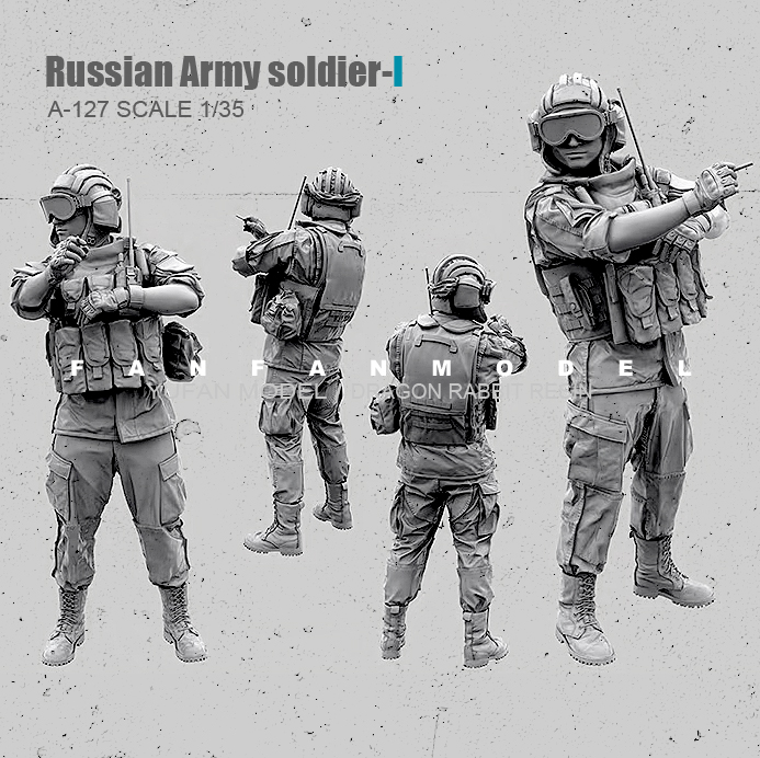 1/35 Reisn Figure Kits Russian Modern Special Forces Soldier Self-assembled A-127B