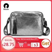 ريالر جلد طبيعي حقائب كروسبودي للنساء 2020 شرابة الكتف حقيبة ساعي الموضة السيدات المحافظ وتصميم حقائب اليد