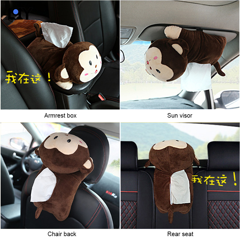 Car Accessories New High Creative Cartoon Cute Tissue Box Quality Universal Car Armrest Box Tissue Box Car Interior Products in Tissue Boxes from Automobiles Motorcycles