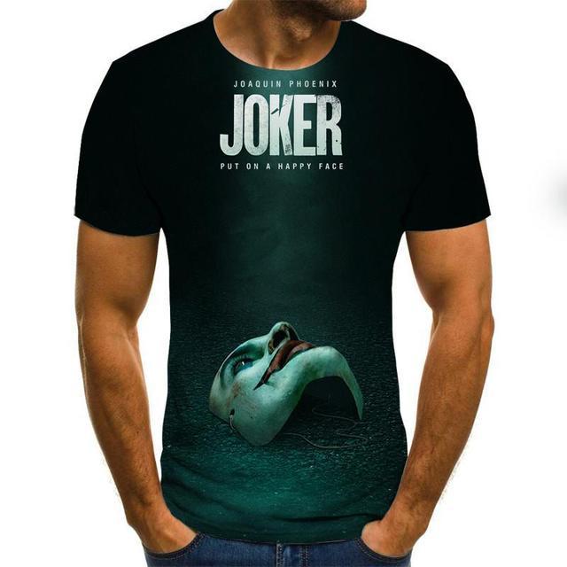 Camiseta de Anonymos  de gran oferta, camisetas de moda con estampado 3D de cara de Joker para hombre y mujer, talla XXS-6XL 1