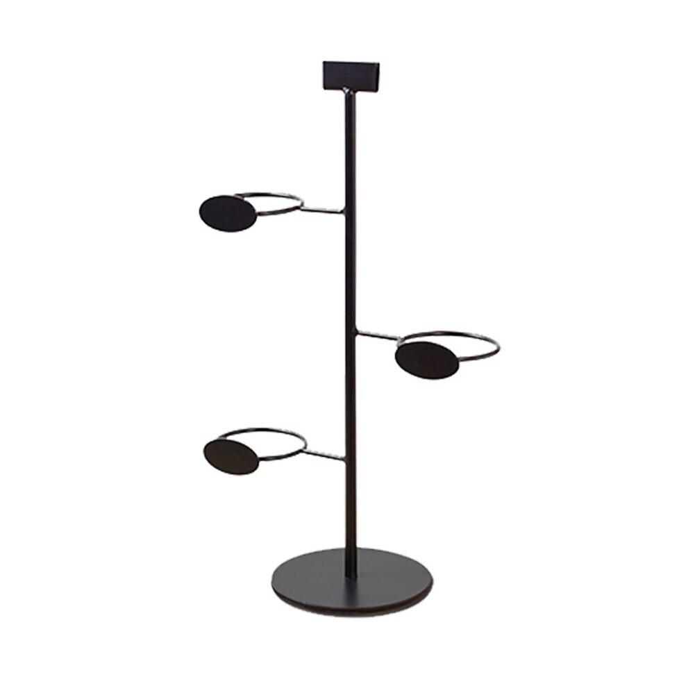 With Slot Beverage Stand Storage Display Rack 3 Grids Milk Tea Bar Base Vertical Coffee Multifuctional Metal Cup Holder Shop