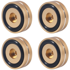 4 шт. поворотные изоляционные подушечки для ног алюминиевые акустические шипы подставка для ног конусы базовый Коврик для o усилитель звука