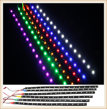 2 pieces of motorcycle car LED decorative light bar 30CM soft strip for Opel Astra g/gtc/j/h Corsa Antara Meriva Zafira image