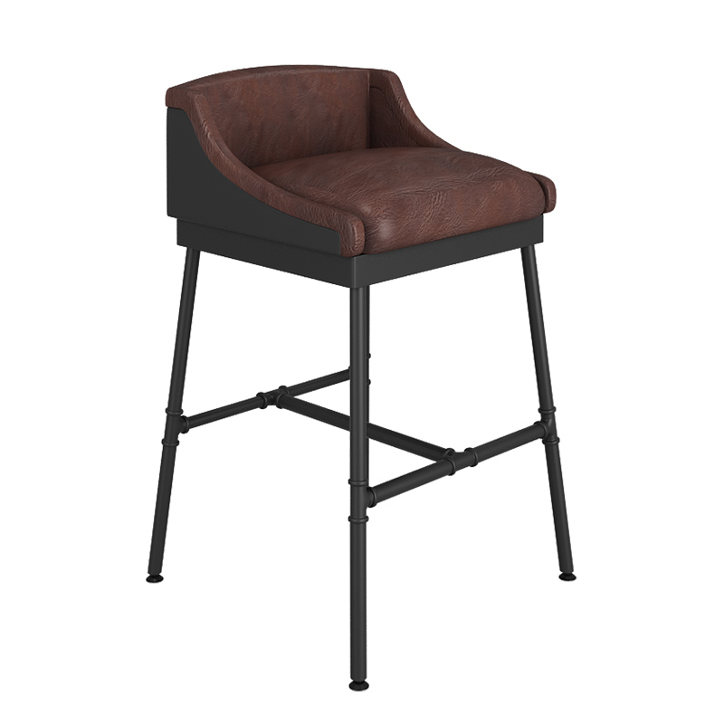 Retro Chair Made Of Old Iron Bar Stool Lounge  High    American   Water Pipe