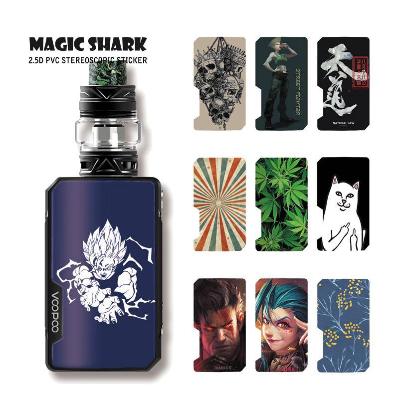 Magic Shark Dragon Ball Jinx Skull Flower Cat Leaf Stereo Pod Case Sticker Film Skin For Voopoo Drag Mini E Cigar Vape