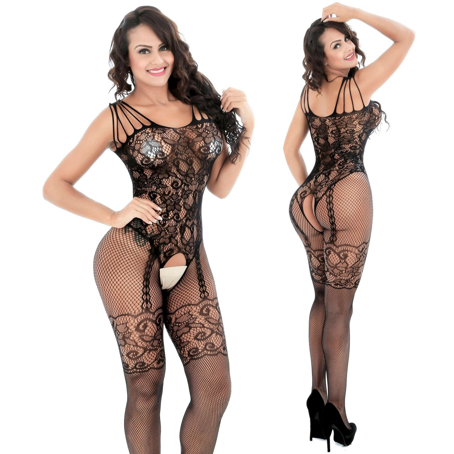HKMN 7 Colors Erotic Underwear For Women Sex Stocking Sexy Bodysuits Baby Doll Nightclub Dancer Mesh Lingerie Plus Size Costumes