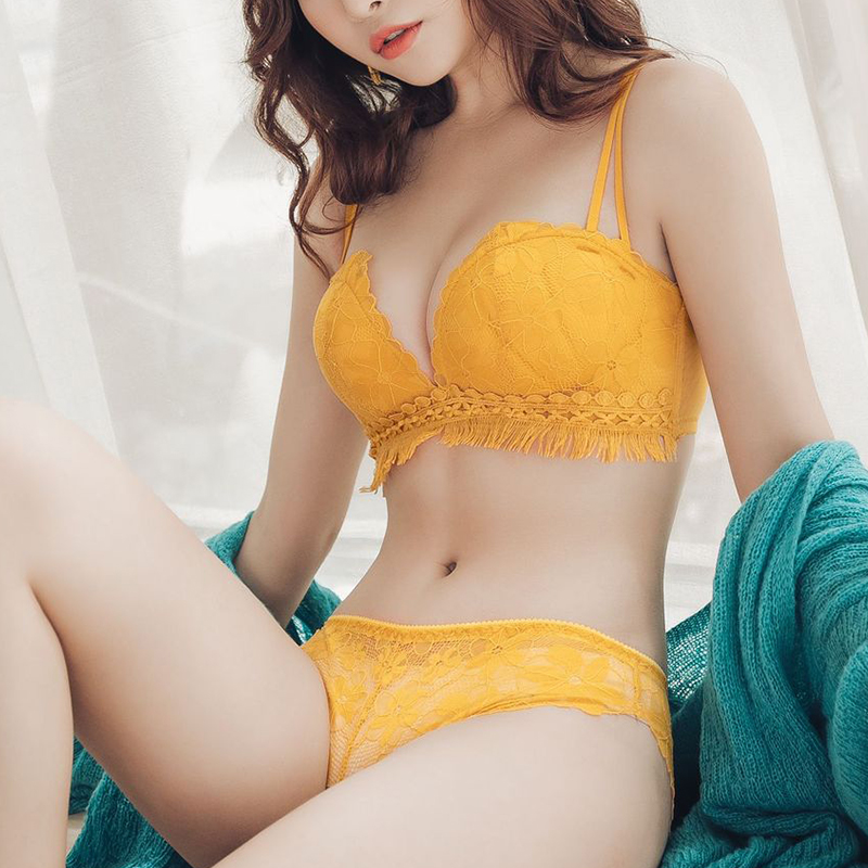 Sexy Bra For Women Lace Bras & Panties Bralette Wireless Bra Set Push Up A B Cup