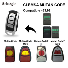 CLEMSA Remote Control Garage door Gate 433.92mhz CLEMSA MASTERCODE MV MUTAN CODE remote garage 300-900mhz clone 2x free shipping clemsa mastercode mv1 universal cloning remote control replacement fob 433 mhz garage door