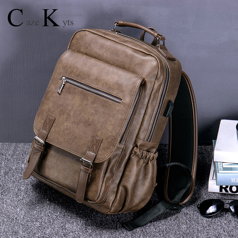 Hot New Sales Men's Retro Fashion Multi-function Large Capacity Backpack Travel Business Backpack Trend Bag Computer Bags