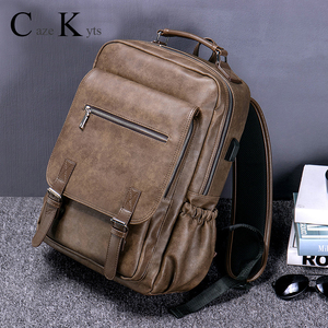 Hot new sales men's retro fashion multi-function large capacity backpack travel business backpack trend bag computer bags(China)