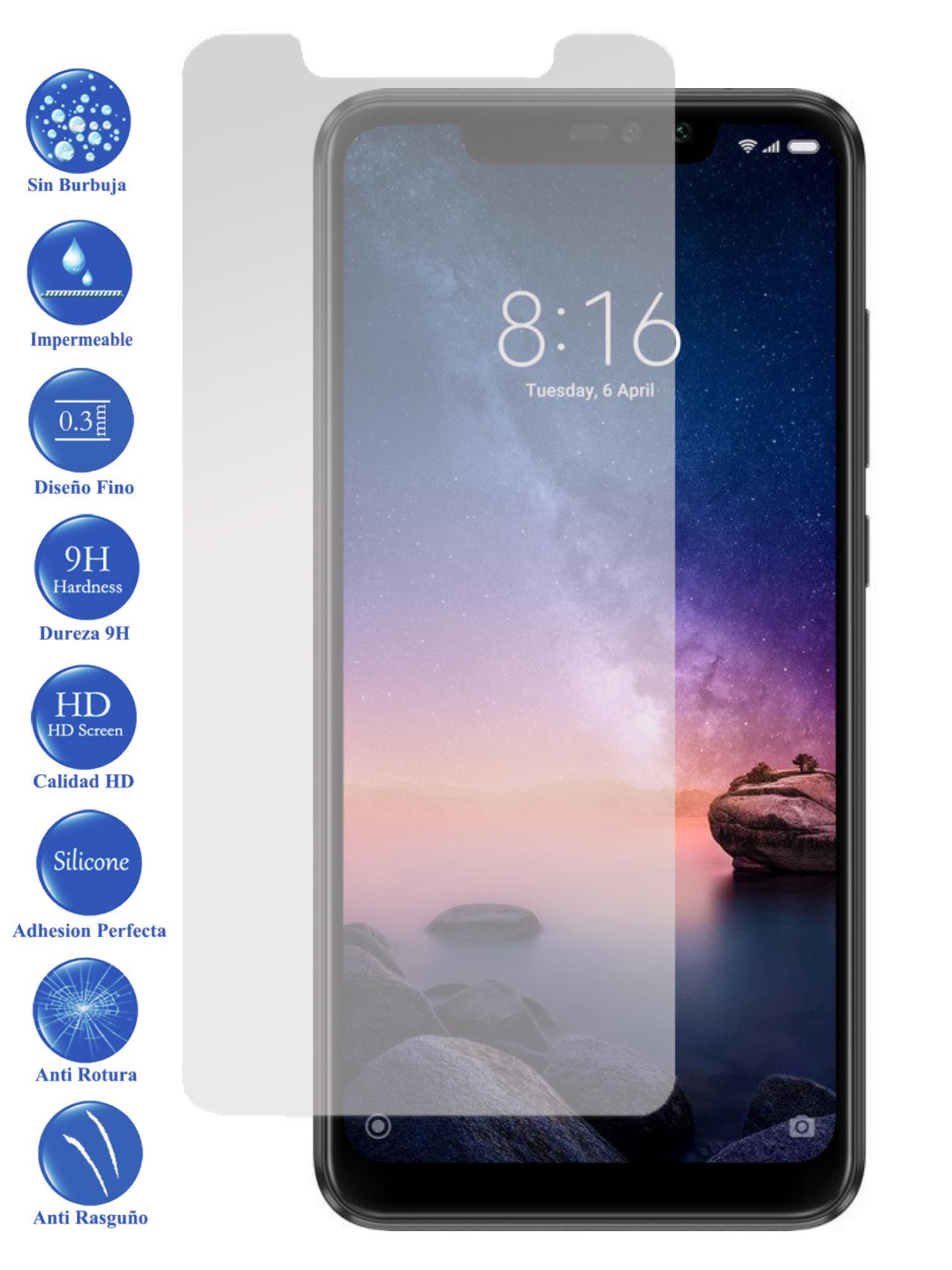 Protector De Pantalla Cristal Templado Vidrio 9H Para Xiaomi Redmi Note 6 Pro