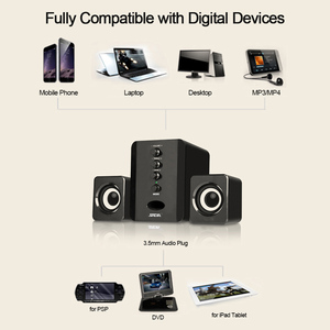 Image 3 - SADA D 202 Combination Speakers USB Wired Computer Speakers Bass Stereo Music Player Subwoofer Sound Box for PC Smart Phones