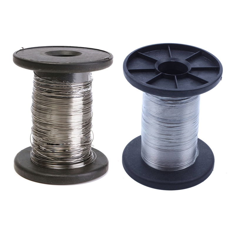 2 Pcs 30M 304 Stainless Steel Wire Roll Single Bright Hard Wire Cable, 0.3Mm & 0.6Mm