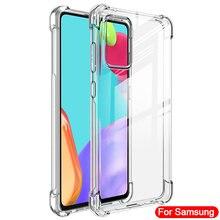 Caso de Telefone à prova de choque Para Samsung Galaxy A51 A71 A50 A70 A10 A30 S21 Ultra S8 S9 S10 S10e S20 S21 Mais Casos De Silicone Tampa Traseira